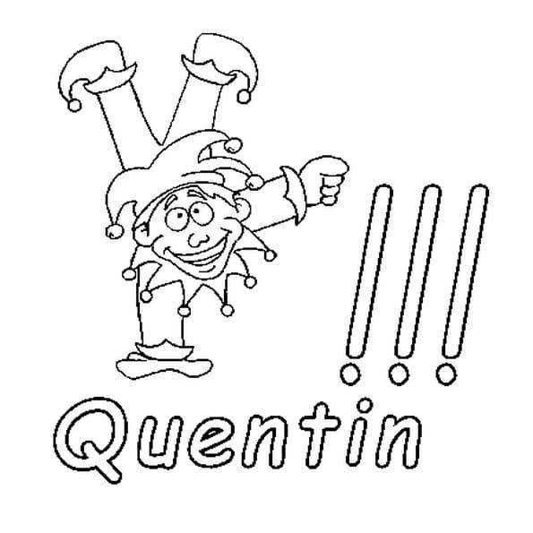 Dessin Quentin a colorier
