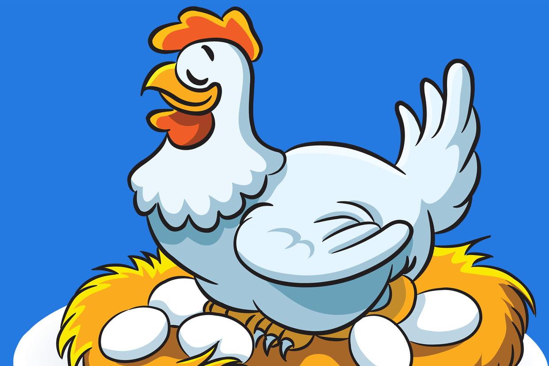 Coloriage poule sur - Coq a dessiner ...