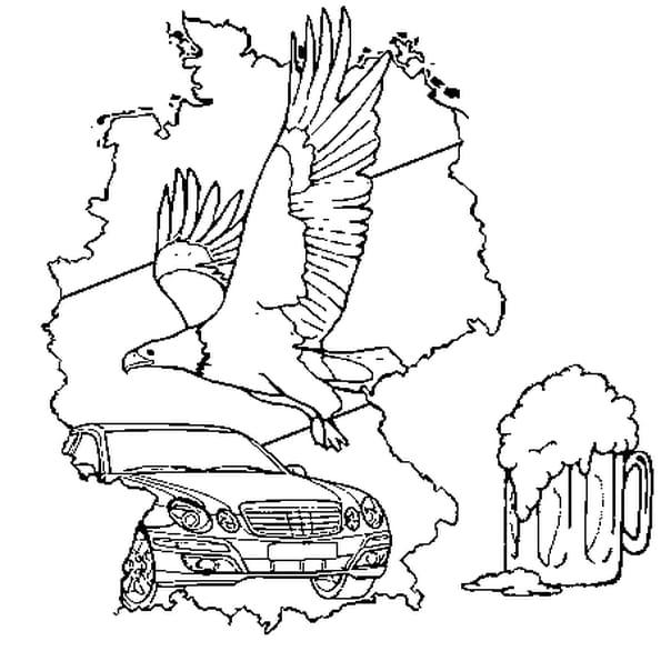 Coloriage Allemagne en Ligne Gratuit à imprimer