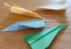 Pliage avion en papier, origami avion en vidéo