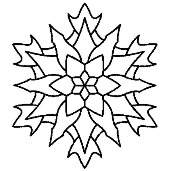 Dessin Mandala Edelweis a colorier