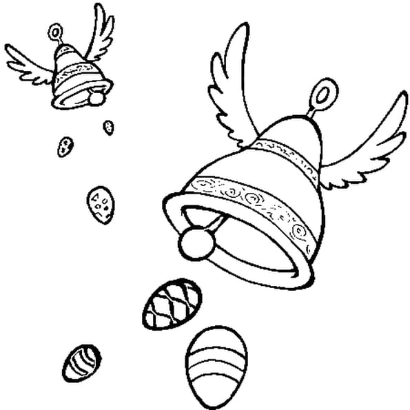Coloriage cloches de pâques en Ligne Gratuit à imprimer