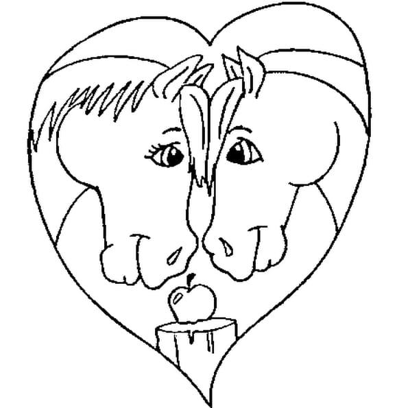 Coloriage de saint valentin en Ligne Gratuit à imprimer