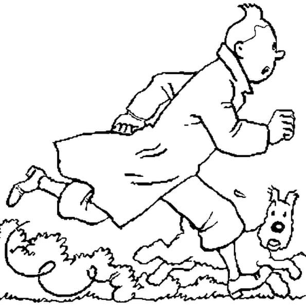 Coloriage Bateau La Licorne Tintin.Coloriage Tintin En Ligne Gratuit A Imprimer