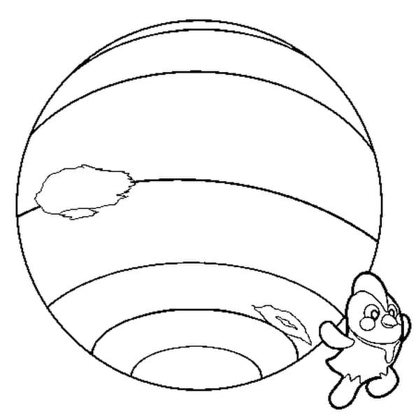 Coloriage Neptune en Ligne Gratuit à imprimer