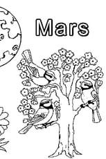 Coloriage Mars