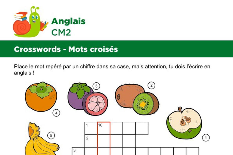 Mots Croises En Anglais Sur Le Theme Des Fruits