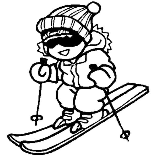 Coloriage image de ski en Ligne Gratuit à imprimer
