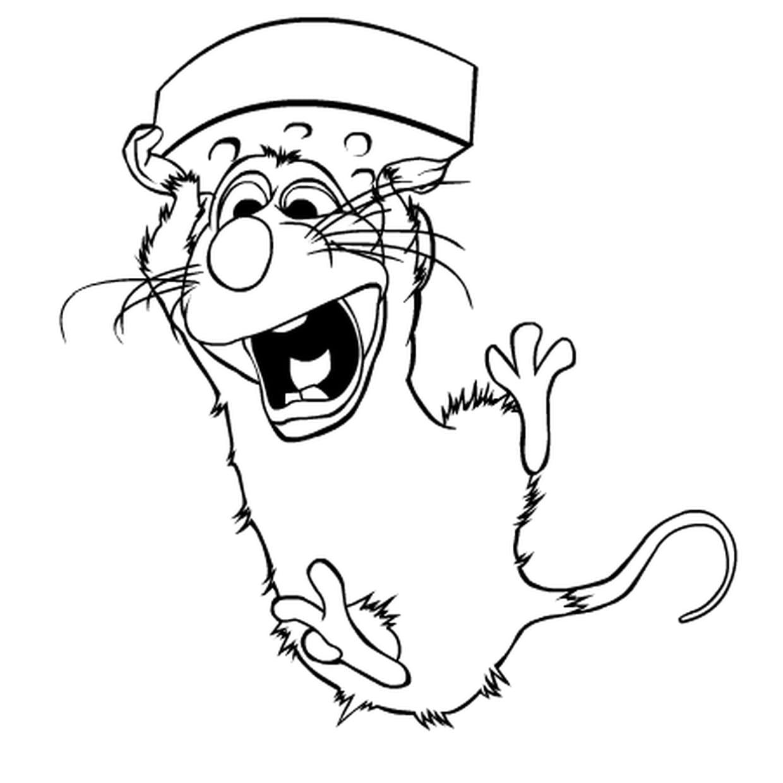 Coloriage Ratatouille En Ligne Gratuit A Imprimer