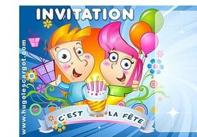 Carte invitation anniversaire c'est la fête