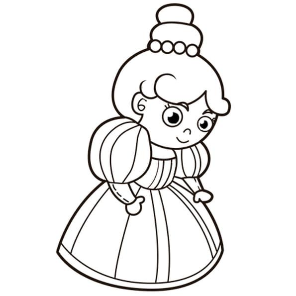 Coloriage La reine en Ligne Gratuit à imprimer