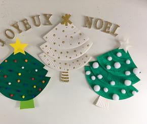 Décoration assiettes sapins de Noël
