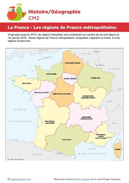 La France Les Régions De France Métropolitaine