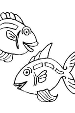 Coloriage poissons d'avril