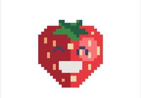 Fraise en pixel art