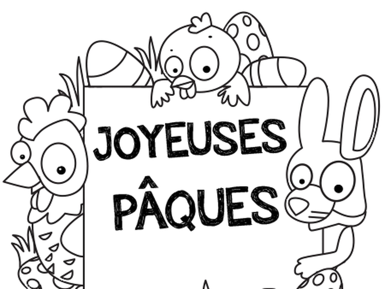 Coloriage Paques Princesse.Coloriage Joyeuses Paques En Ligne Gratuit A Imprimer