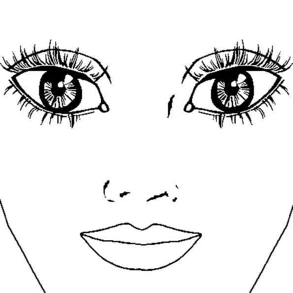 Coloriage Yeux