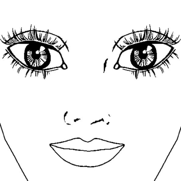 coloriage yeux en ligne gratuit imprimer. Black Bedroom Furniture Sets. Home Design Ideas
