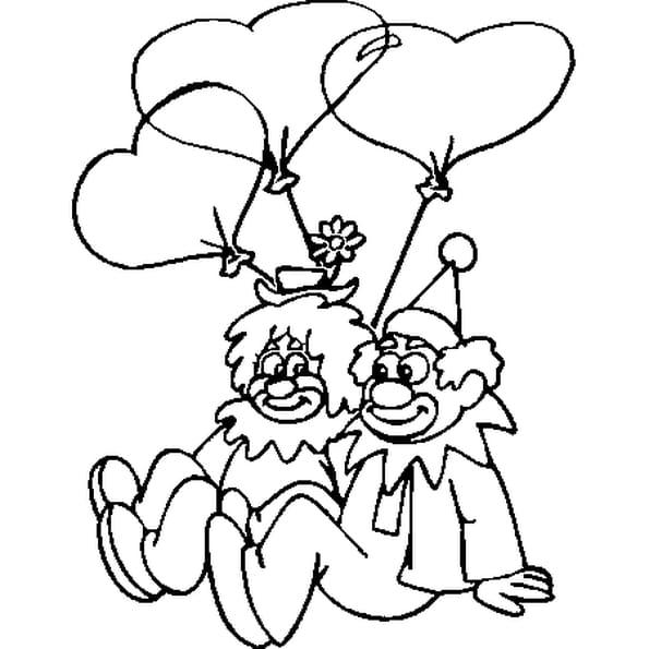 Coloriage Clowns en Ligne Gratuit à imprimer