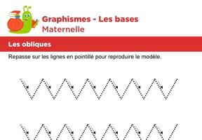 Les bases du graphisme, les obliques niveau 4