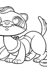 Coloriage pet shop loutre