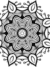 Coloriage Mandala Difficile A Imprimer.Coloriage Mandala Complexes Sur Hugolescargot Com