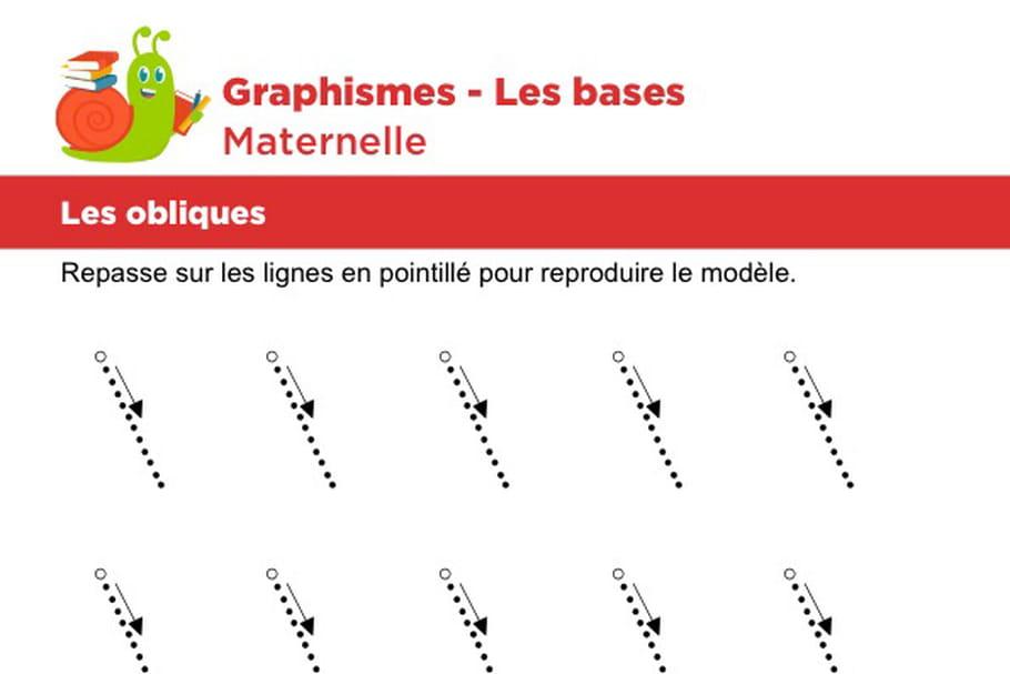 Les bases du graphisme, les obliques niveau 3