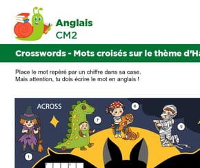 Mots croisés en Anglais sur le thème d'Halloween