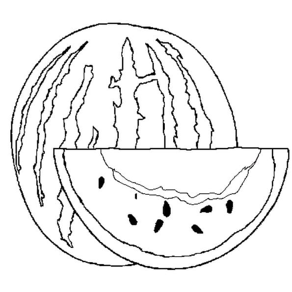 Dessin Pastèque a colorier