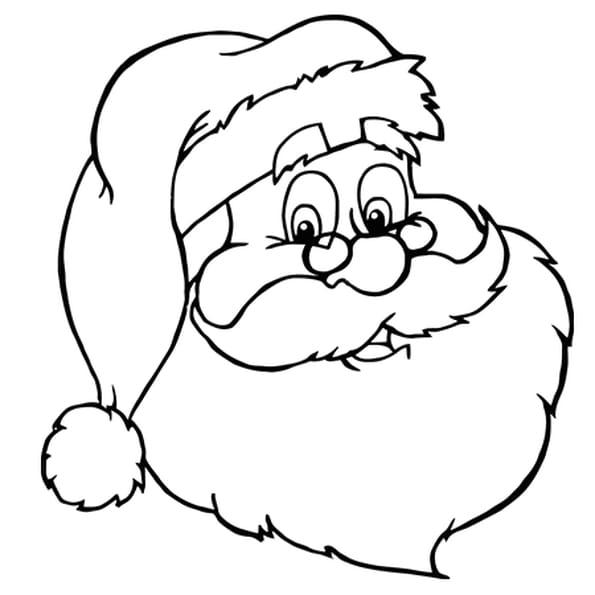Coloriage Jolie Tête De Père Noël En Ligne Gratuit à Imprimer