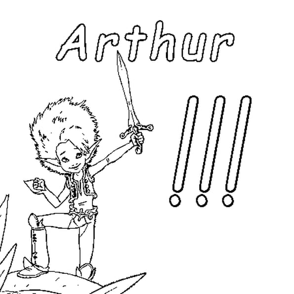 Dessin Arthur a colorier