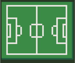Terrain de football en pixel art