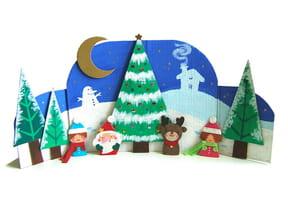 Décor de Noël pour marionnettes