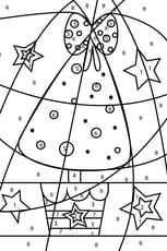 Coloriage magique grand sapin de Noël