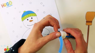 Bonhomme de neige à habiller - Étape 1