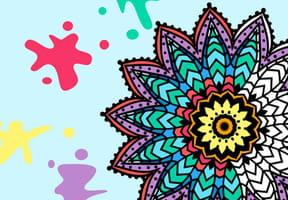 Jeu: Mandalas à colorier
