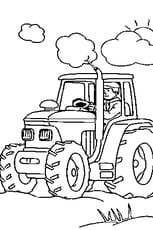 Coloriage Tracteur En Ligne Gratuit à Imprimer