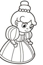 Coloriage La reine