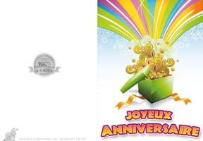 Carte joyeux anniversaire arc-en-ciel