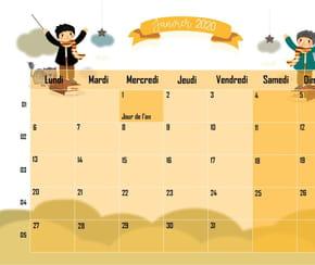 L'école des Sorciers: calendrier2020
