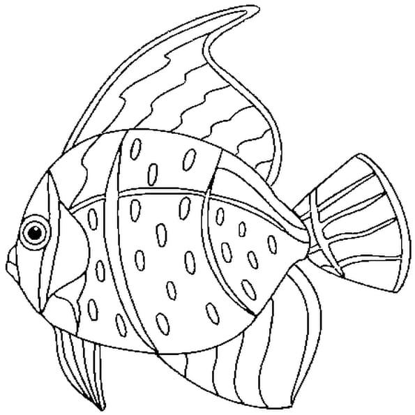 Coloriage poisson d 39 avril 2 en ligne gratuit imprimer - Dessins poissons d avril ...