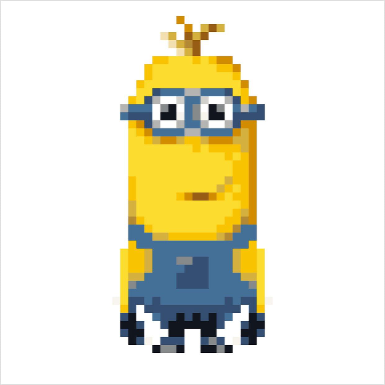 Les Minions Kevin En Pixel Art
