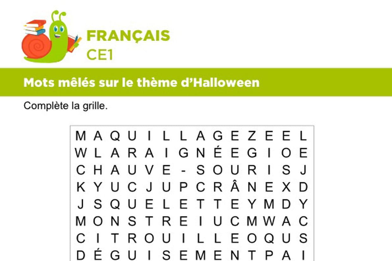 Vocabulaire Mots Meles Sur Le Theme D Halloween