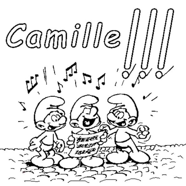 Dessin Camille a colorier