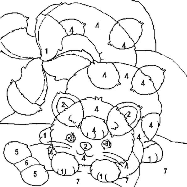 Coloriage magique chat en ligne gratuit imprimer - Coloriage en ligne chat ...