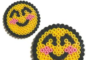 Smiley emoticon en perles à repasser
