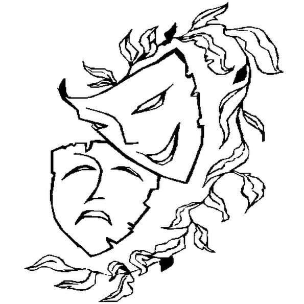 Coloriage masque de venise en Ligne Gratuit à imprimer