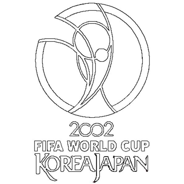 Dessin Coupe du Monde 2002 a colorier