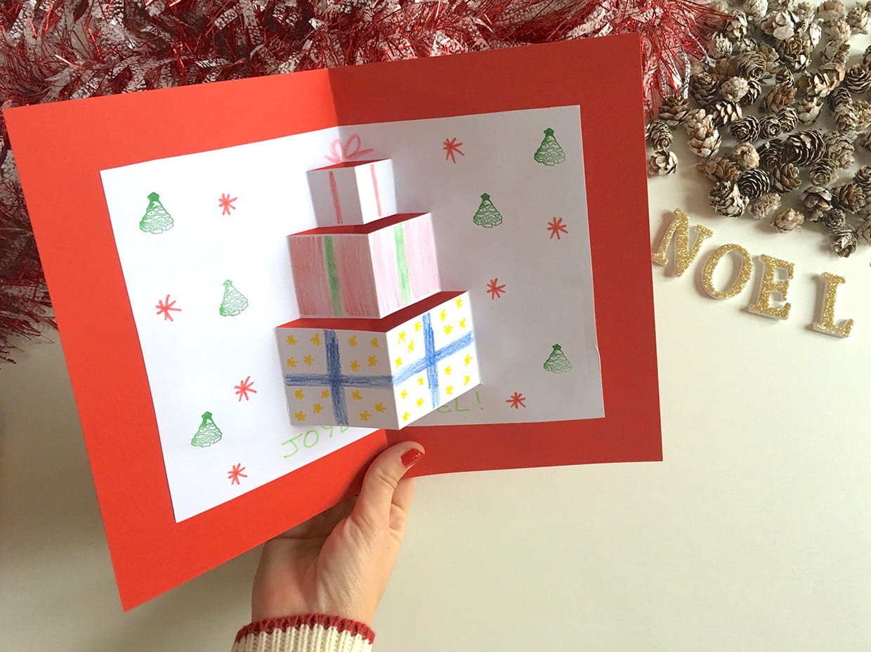 Carte De Voeux 3D A Fabriquer carte pop up cadeaux de noël