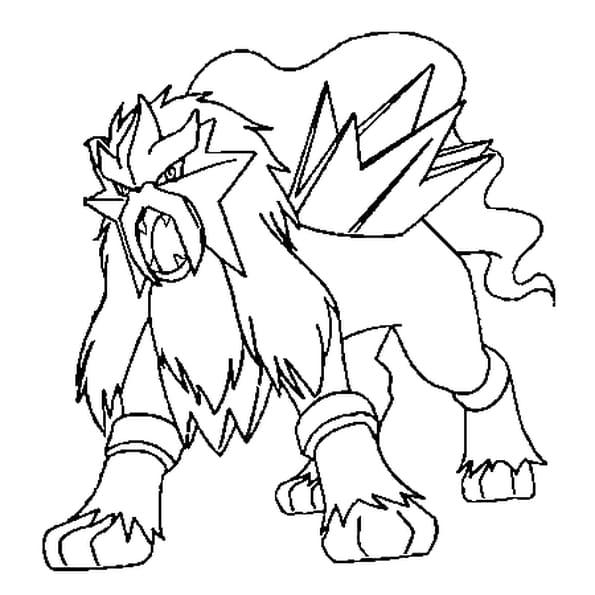 Dessin Pokémon entei a colorier